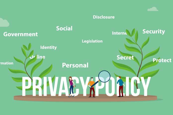 ブログのプライバシーポリシーと免責事項の書き方|第 1 章 プライバシーポリシーとは?PRIVACY POLICYの文字を探している人のイラスト|賢く稼げ!副業ブログ・アフィリエイト