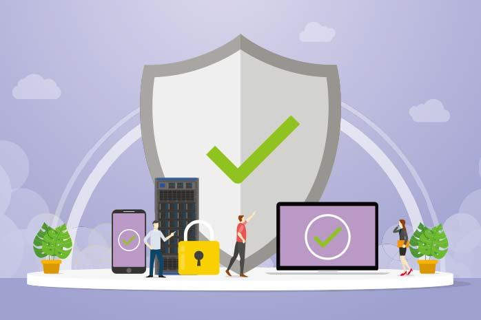 プライバシーセキュリテーを守っているイラスト